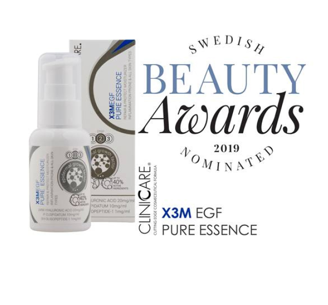 CLINICCARE NOMINATED FOR SWEDISH BEAUTY AWARDS 2019